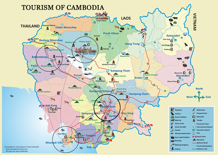 Cambodia attraction place map 900pix