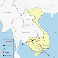 Vietnam & Cambodia Tour Package 6n-7d (Ho Chi Minh & Siem Reap) - MAP