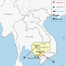 Cambodia Luxury Package Tour 15 Days - Map