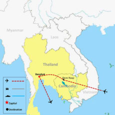 Cambodia & Thailand Tour Package 5 Days - MAP