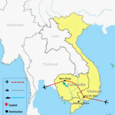 Vietnam & Cambodia Tour Package 4 Nights-5 Days - MAP V2