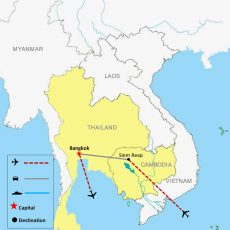 Map Cambodia & Thailand Tour Package 7 Days