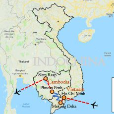 Amazing Mekong Explorer 9 Days Itinerary Route (map)