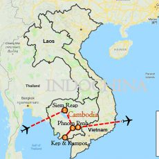 Cambodia Beach Holiday Tour 10 Days Itinerary Route Map-1