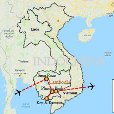 Cambodia Cycling Angkor Wat & Southern Coast 10 Days Itinerary Route Map-1