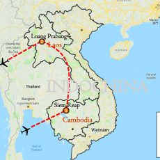 Cambodia & Laos Tour 7 Days Itinerary Route (map)