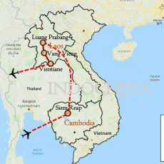 Cambodia & Laos Tour 9 Days Itinerary Route (map)