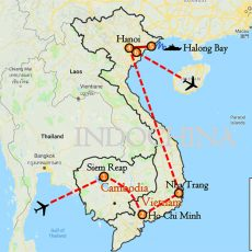 Cambodia & Vietnam Luxury Tour 16 Days Itinerary Route (map)
