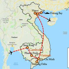 Cambodia & Vietnam Tour Package 13 Days Itinerary Route (map)
