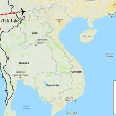 Essence of Myanmar Tour 8 Days Itinerary Route (map)