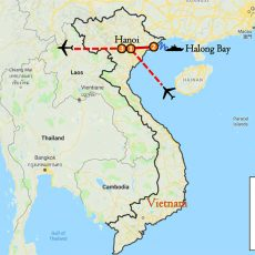 Hanoi & Halong Bay Tour Package 4 Days Itinerary Route (map)