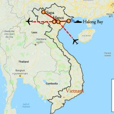 Hanoi, Sapa & Halong Bay Package 7 Days Itinerary Route (map)