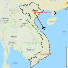 Hanoi Tour Package 3 Days Itinerary Route (map)