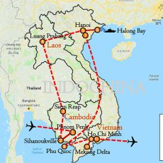 Indochina Vacation & Beach Tour 20 Days Itinerary Route (map)