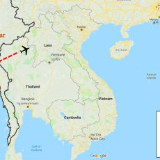 Myanmar Cultural Tour Package 5 Days Itinerary Route (map)