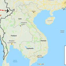 Myanmar Private Tour Package 6 Days Itinerary Route (map)