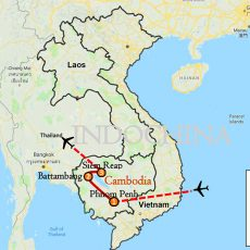 Phnom Penh, Battambang & Siem Reap Itinerary Route Map-1