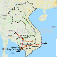 Siem Reap & Sihanoukville Tour 10 Days Itinerary Route Map-1