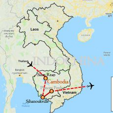 Siem Reap & Sihanoukville Tour 7 Days Itinerary Route Map-1