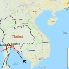 Thailand Bangkok Cultural Tour 4 Days Itinerary Route (map)