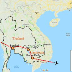 Thailand & Cambodia Tour 10 Days Itinerary Route (map)