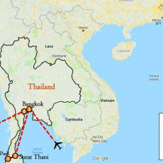 Thailand Private Tour Package 6 Days Itinerary Route (map)