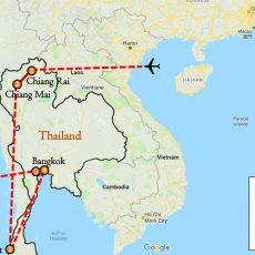 The Best Thailand & Beach Tour Package 9 Days Itinerary Route (map)