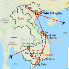 Tour Proposal - The Best Essence of Cambodia Vietnam 3 Weeks (map)