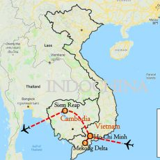 Vietnam & Cambodia Tour 7 Days (Ho Chi Minh & Siem Reap) Itinerary Route (map)