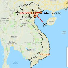Vietnam Tour & Halong Bay Package 5 Days Itinerary Route (map)