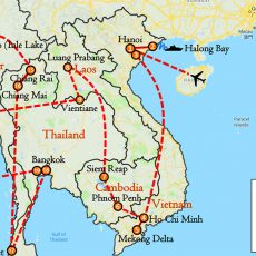 Vietnam, Cambodia, Laos, Myanmar & Thailand 31 Days Itinerary Route