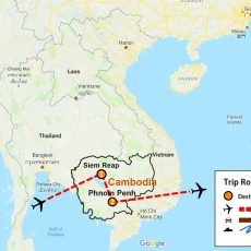 Siem Reap & Phnom Penh (map)