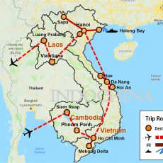 Best Authentic Cambodia, Vietnam & Laos Tour 23 Days (map)