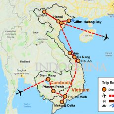 Best Essence of Cambodia & Vietnam 3 Weeks (map)