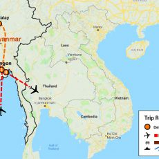 Best Myanmar Tour 7 Days (map)