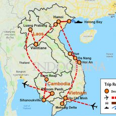 Best of Indochina Vietnam, Laos & Cambodia 3 Weeks (map)