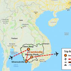 Cambodia Beach & Angkor Wat 8 Days (map)