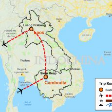 Cambodia & Laos Private Tour 7 Days (map)
