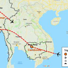 Cambodia & Myanmar Private Tour 10 Days (map)