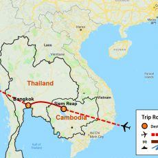 Cambodia & Thailand Tour 7 Days (map)