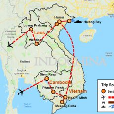 Cambodia, Vietnam & Laos Tour 18 Days (map)