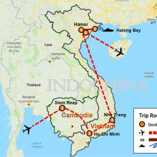 Cambodia & Vietnam Luxury Tour 16 Days (map)