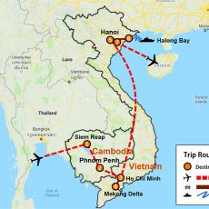 Cambodia & Vietnam Package 4-City (map)