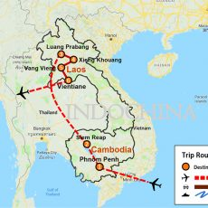 Discovering Depth of Cambodia & Laos Tour 15 Days (map)