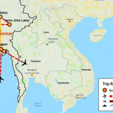 Essence of Myanmar Tour 9 Days (map)