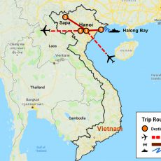 Hanoi, Sapa & Halong Bay Package 7 Days (map)