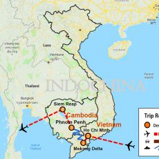 Mekong Explorer, Vietnam & Cambodia 9 Days (map)