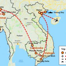 Myanmar, Cambodia & Vietnam Tour 20 Days (map)
