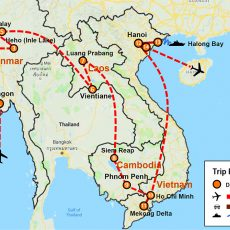 Myanmar, Laos, Cambodia & Vietnam 25 Days (map)