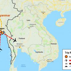 Myanmar Yangon, Bagan Tour 5 Days (map)